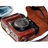"MegaGear ""Ever Ready"" Dunkelbraun Leder Kamera, Tasche für Canon PowerShot G15, Canon PowerShot G16"