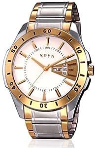 SPYN Exclusive golden casual wrist watch for Men