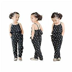 Rosennie Kids Girls Love Heart Straps Piece Pants Rompers Jumpsuits