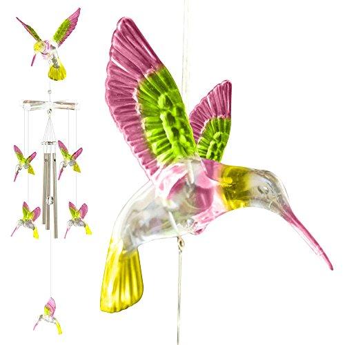 Hummingbird Wind Chimes Outdoor Decor Unique