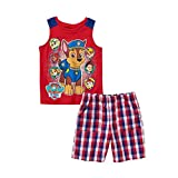 Nickelodeon Paw Patrol Tank Top Tee and Shorts Outfit Little Boys' 4T