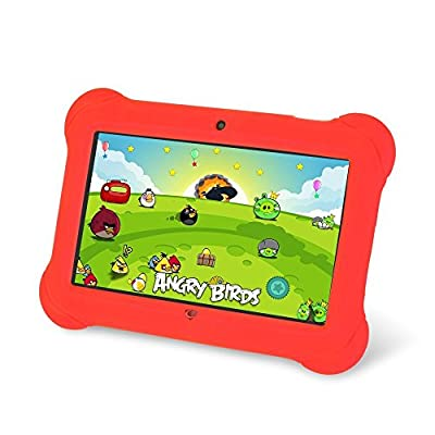"Zeepad Kids TABZ7 Android 4.4 Quad Core Five Point Multi Touch Tablet PC, 7"", 4GB, Kids Edition, Red"