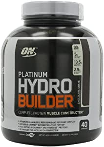 Optimum Nutrition Platinum Hydrobuilder, Chocolate Shake, 4.59 Pound Jar