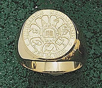 Nebraska Cornhuskers Seal Mens Ring Size 10 1 4 - 14KT Gold Jewelry by Logo Art