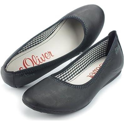 s oliver damen ballerina decksohle leder schwarz gr e. Black Bedroom Furniture Sets. Home Design Ideas