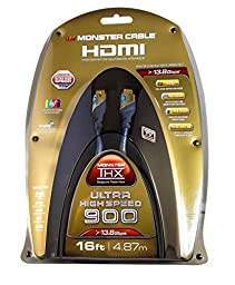 Monster Cable THX 900 Ultra-High Speed HDMI Cable - 16 Ft