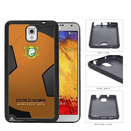 Cote D'Ivoire (Ivory Coast) World Cup 2014 Soccer Ball Rubber Silicone Tpu Cell Phone Case Cover Samsung Galaxy Note Iii 3 N9000