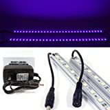 GENSSI LED Black Light Blacklight Tube 50cm Strip UV Purple Wall Washer (Pack of 2)