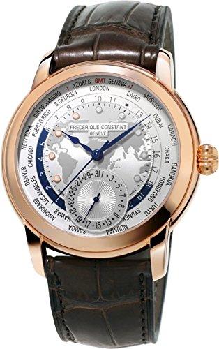Frederique Constant Geneve Worldtimer Manufacture FC-718WM4H4 Reloj Automático para hombres Calibre de Manufactura