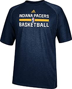 Indiana Pacers Navy Heather Climalite Practice Short Sleeve Shirt by Adidas by adidas