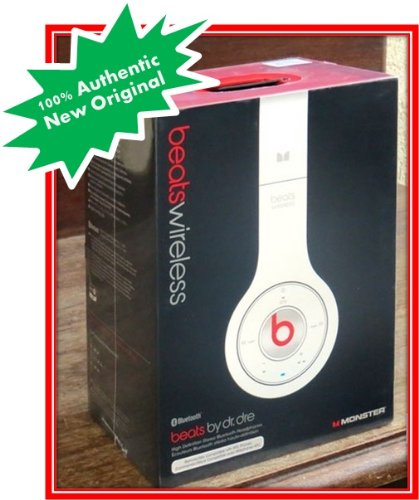 Beats Dr Dre Bluetooth Wireless on Ear Over Head Phones Set White