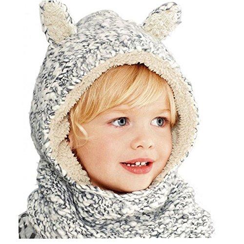 Frbelle-Hiver-Tricots-Bonnet-Chapeaux-Unisexe-Cagoules-Enfant-Fille-Garon-Bb-Pour-Ski-Vlo-VTT-Protection-Tour-de-Cou-et-Visage