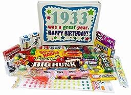 1933 83rd Birthday Gift Basket Box Retro Nostalgic Candy