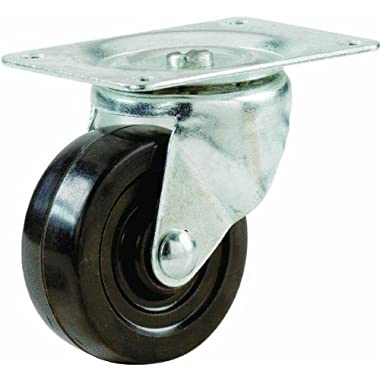 Shepherd Hardware9477Soft Rubber Swivel Plate Caster-2