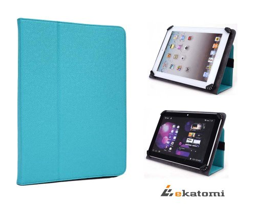 [Accord] TEAL / TURQUOISE | Universal Book Style Cover 9-inch Tablet Case with Stand for Trio Stealth Pro 9.7