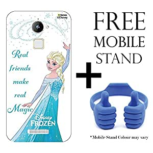 Hamee Disney Frozen Princess Licensed Hard Back Case Cover For CoolPad Note 3 Cover with Free Mobile Stand - Combo 15