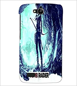 PrintDhaba Warrior D-2841 Back Case Cover for HUAWEI HONOR HOLLY (Multi-Coloured)