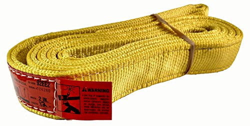 DD Sling (USA Made). 2″ wide X (4′ to 20′ lengths) in Listing! 2 Ply Twisted Eye, Nylon Lifting Slings, Eye & Eye, Heavy Duty (900 webbing), 6,800 lbs Vertical, 5,100 Choker, 12,800 Basket Load Capacity (2inX12ft)