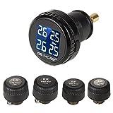 TPMS タイヤ空気圧監視システム タイヤ空気圧温度測定 リアルタイム監視 4センサー TPMS LEDモニターで表示!