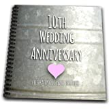 3dRose db_154441_2 10th Wedding Anniversary Gift Tin Celebrating 10 Years Together Memory Book, 12 by 12-Inch