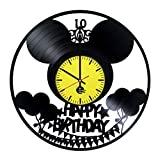 10th-HAPPY-BIRTHDAY-HANDMADE-Vinyl-Record-Wall-Clock-Get-unique-nursery-wall-decor-Gift-ideas-for-children-kids-Anniversary-Unique-Art-Leave-us-a-feedback-and-win-your-custom-clock