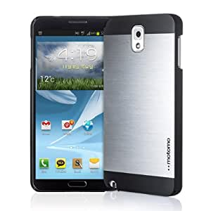 INO Metal Aluminum Fashion Hard Case for Samsung Galaxy Note 3 III - Retail Packaging - Silver/Black