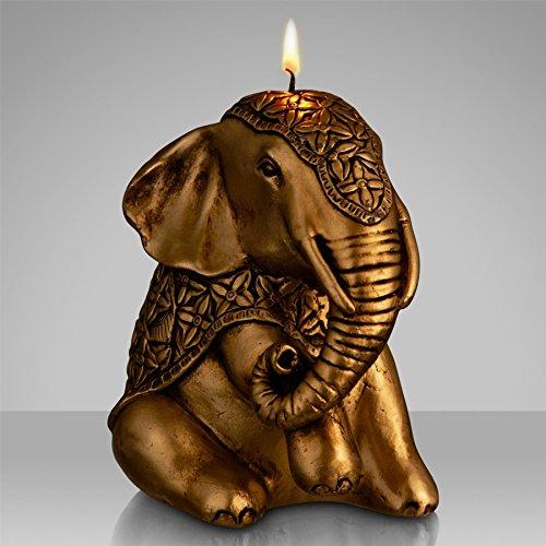 john-lewis-elephant-candle-gold