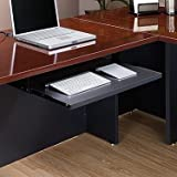 Sauder Via Keyboard Shelf Soft Black