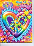 img - for Lisa Frank Giant Coloring & Activity Book ~ Heart-Shaped Peace & Love Sign book / textbook / text book
