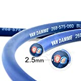 Van Damme Professional Blue Series Studio Grade 2 x 2.5 mm (2 core) Twin-Axial Speaker Cable 268-525-060 12 Metre / 12Mby Van Damme