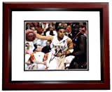 DJ Augustin Autographed / Hand Signed 11x14 Texas Longhorns Photo MAHOGANY CUSTOM FRAME