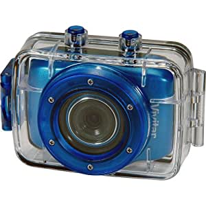 Vivitar DVR785HD-BLU 5MP Pro Waterproof Action Camcorder with Case and Mounts Video Camera with 2-Inch LCD Screen (Blue)