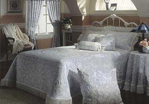 Queen Elizabeth Matelasse Bedspread - Queen - French Blue
