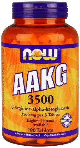 NOW Foods Aakg 3500, 180 Tablets