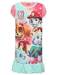 Paw Patrol Short Sleeve Pull On Multi Coloured Character Print Frill Hem Pyjama Night Dress from Paw Patrol