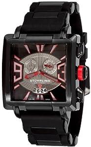Stuhrling Original Men's 278A.335664 Classic Metropolis Il Capo Chronograph Swiss Quartz Date Black Watch