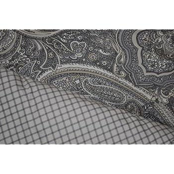 Superb Lauren Ralph Lauren Queen Comforter Set Paisley Medallion Check Reversible Sateen Piece Black Beige Cream Grey With Comforter Standard Shams