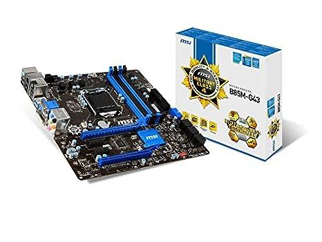 MSI B85M-G43 Intel B85 Socket H3(1150) 1 x Ethernet 1 x HDMI 1 x Serie 4 x USB 2.0 2 x USB 3.0