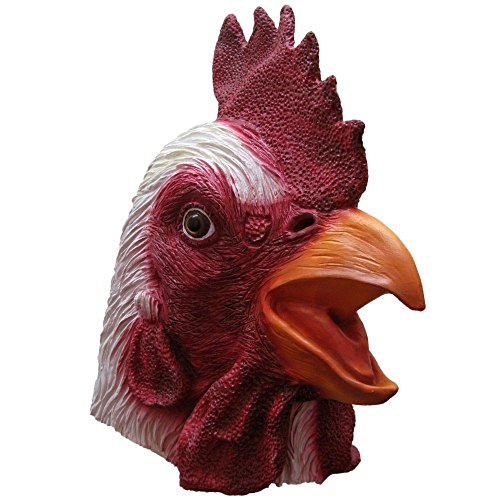 Deluxe Rooster Mask For Hollween By Crazy Halloween Mask