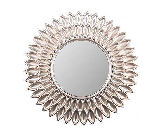 Wee's Beyond 2857-Champagne Sunflower Decorative Wall Mirror 24