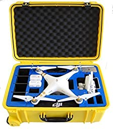 Microraptor Pro Cases NEW Phantom 3 Case designed to fit the Advanced & Professional Editions DJI PHANTOM 3 (Yellow Case, Blue Foam)