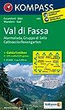 Val di Fassa - Marmolada - Gruppo di Sella - Catinaccio/Rosengarten: Wanderkarte mit Kurzführer und Radtouren. GPS-genau. 1:25000 (KOMPASS-Wanderkarten)