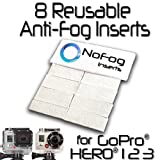 NoFog Anti-Fog Inserts for GoPro Hero3 Hero2 Hero - 8 Pack
