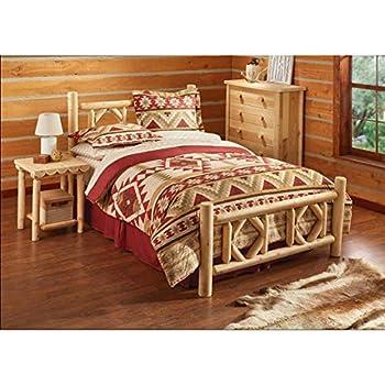 CASTLECREEK Diamond Cedar Log Bed, Queen