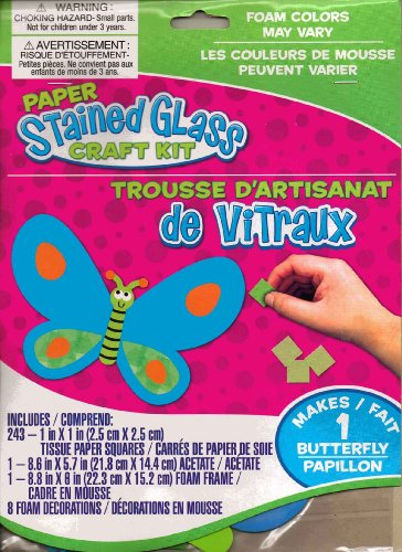 Paper Stained Glass Craft Kit Butterfly - 1