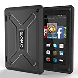 Fire HD 7 Case - Poetic Fire HD 7 Case [Revolution Series] - [Heavy Duty] [Dual Layer] [Screen Shield] Protective Hybrid Case with Built-In Screen Protector for Amazon Fire HD 7(2014) 4th Gen Black (3 Year Manufacturer Warranty From Poetic)