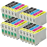 4 Compatible Sets of 4 + Extra Black Printer Ink Cartridges to replace T2705 + T2701 / 27 Series (20 Inks) - Black / Cyan / Magenta / Yellow for use in Epson WorkForce WF-3620DWF, WF-3640DTWF, WF-7110DTW, WF-7610DWF, WF-7620DTWF, WF-7620TWF