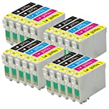 4 Compatible Set of 4 + Extra Black Printer Ink Cartridges to replace T0715 + T0711 (5 Inks) - Black / Cyan/ Magenta / Yellow for use in Epson Stylus D78 D92 D120 DX4000 DX4050 DX4400 DX4450 DX5000 DX5050 DX6000 DX6050 DX7000F DX7400 DX7450 DX8400 DX8450