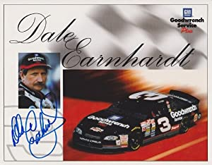 Dale Earnhardt Sr. Autographed Hand Signed Racing 8x10 Photo by Real Deal Memorabilia