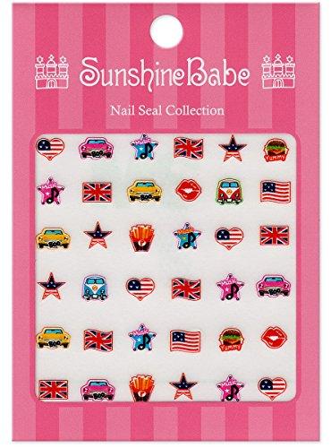 SunshineBabe ネイルシール カジュアルワッペン